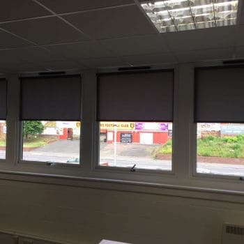 Living Room Blinds for an office Glasgow in Scotland