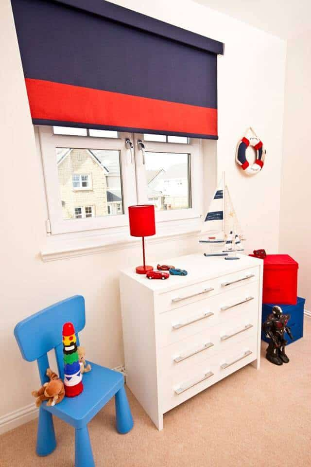 blue blinds for childrens room Glasgow in Scotland
