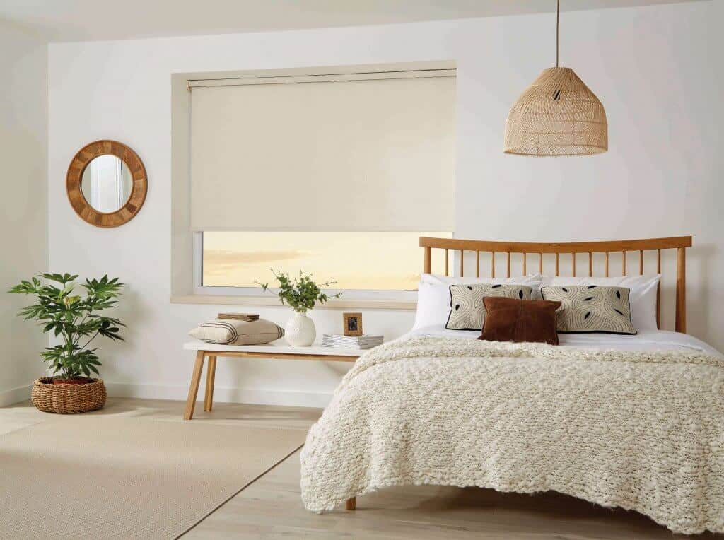 Bamboo coloured Roller Blinds Glasgow
