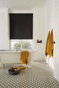 Black Bathroom Roller Blinds Glasgow