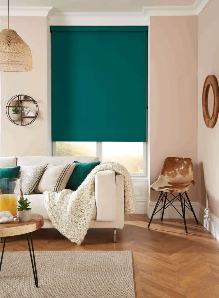 Emerald green Roller Blinds Glasgow