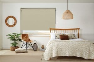 Herringbone Oatmeal Roller Blinds Glasgow