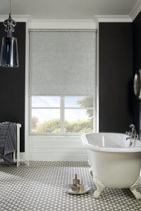 Light Grey Satin Bathroom Roller Blinds Glasgow