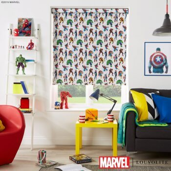 Marvel Avengers Spiderman Captain America Hulk Thor Ironman Spider-man Iron-man Blinds UK