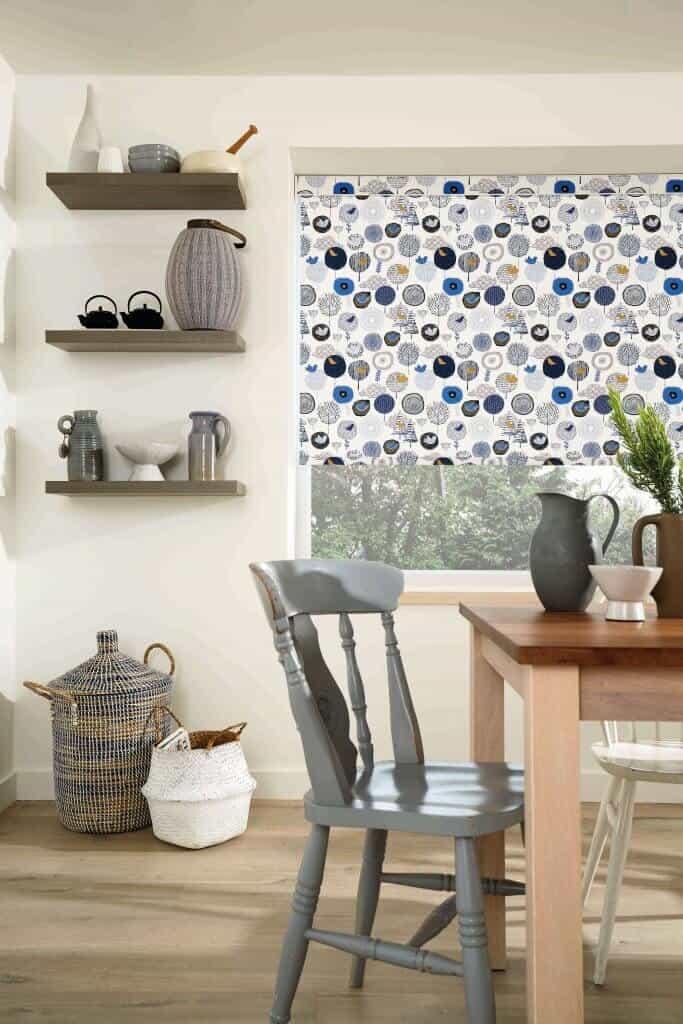 Roller blinds Blue bird pattern Glasgow