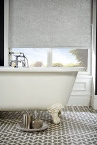 Romany Light Grey Satin Roller Blinds Glasgow