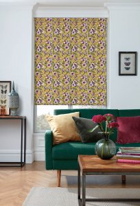 Wildflower Canary Roller Blinds Glasgow