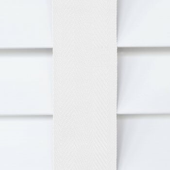 Wooden Blinds Glasgow Tape Taped Colour Cotton White