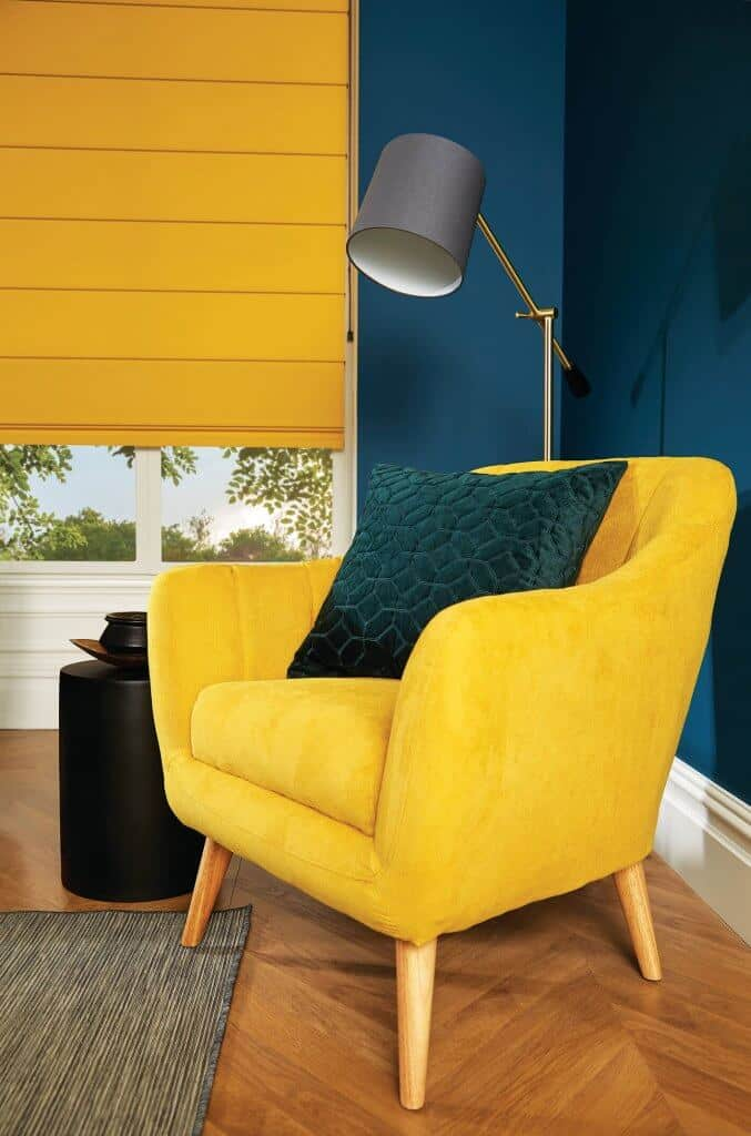 Roman Blinds Glasgow Edinburgh yellow