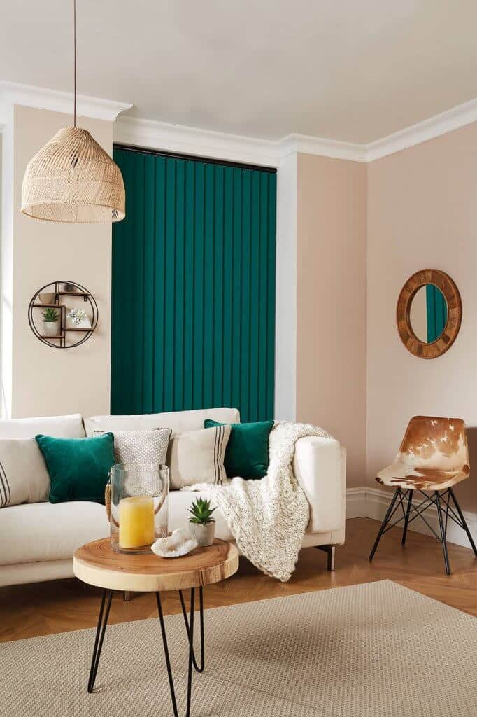 Vertical Blinds Glasgow Edinburgh Emerald Green