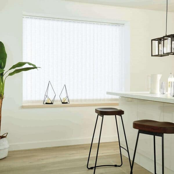 Vertical Blinds Glasgow Edinburgh Coral White