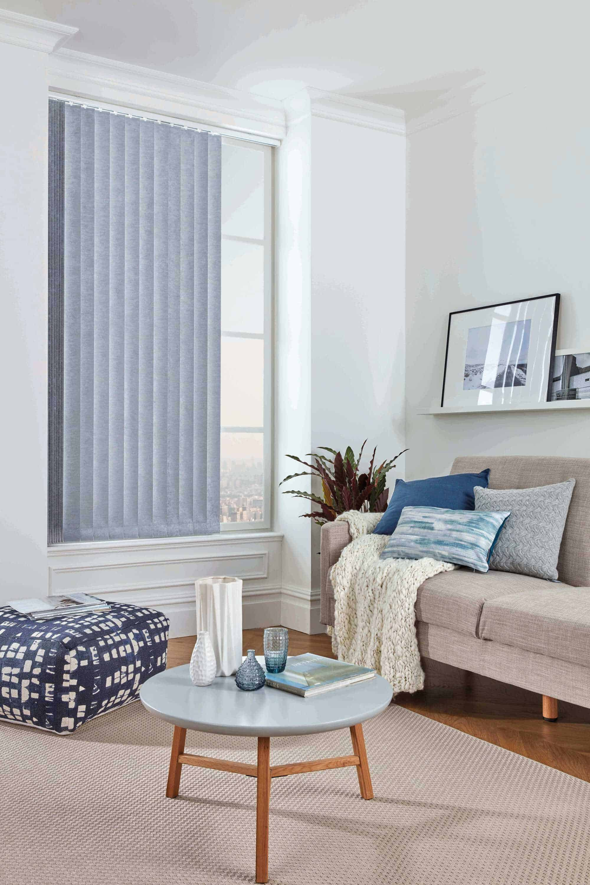 Vertical Blinds Glasgow Edinburgh Cornish Blue