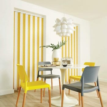 Vertical Blinds Glasgow Edinburgh Mustard and white