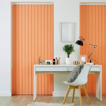 Vertical Blinds Glasgow Edinburgh Orange Peach