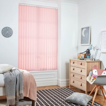 Vertical Blinds Glasgow Edinburgh baby pink