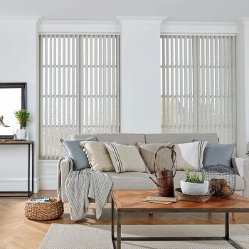 Vertical Blinds Glasgow Edinburgh cream pattern
