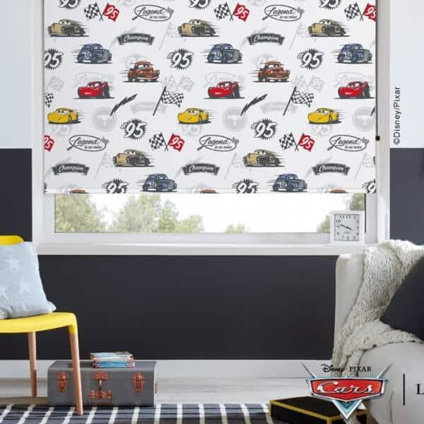 Disney Pixar Cars movie blinds in child's bedroom