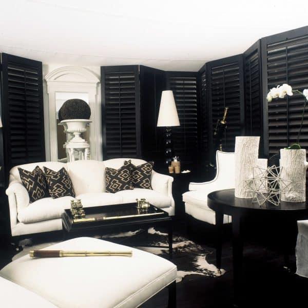 Black shutter blinds