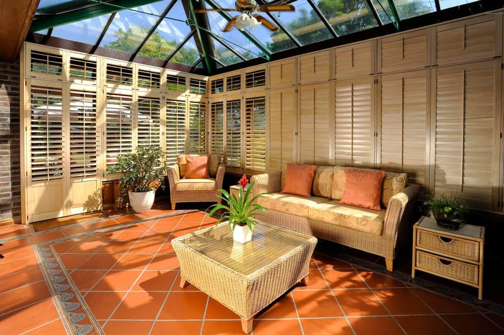 Conservatory shutter blinds Glasgow