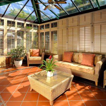Conservatory shutter blinds Glasgow