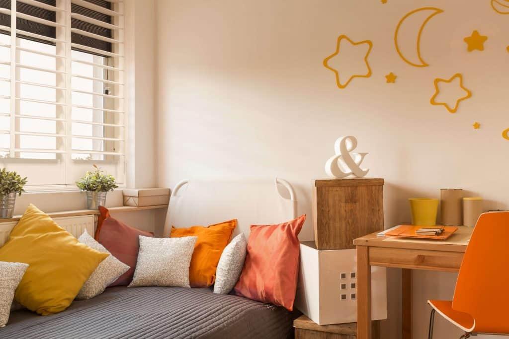 Kids bedroom shutter blinds