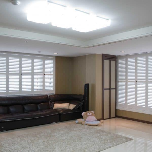 White shutter blinds Glasgow