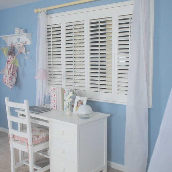 Childs bedroom shutter blinds