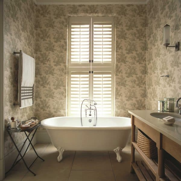 shutter blinds small Bathroom